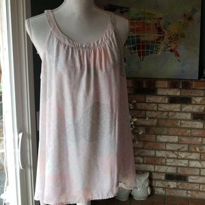 Torrid High Neck Hi Low 00 (M/L) Pink Gray Tank